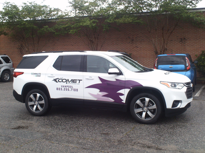 COMET Vanpool is now available to all companies and organizations in the Columbia metropolitan area, supported by a monthly subsidy of $500 per vehicle to offset employee costs. - Photo courtesy of Enterprise.