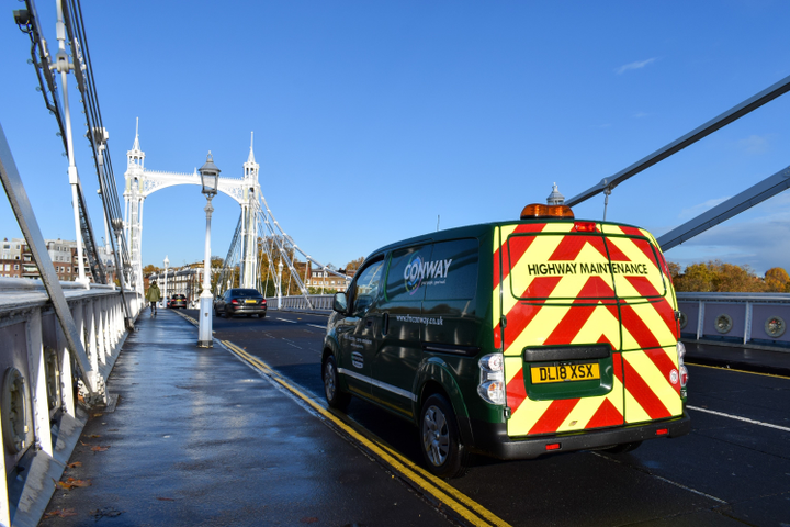 The vans are being used in the London boroughs of Croydon, Kensington and Chelsea, and Hammersmith and Fulham to support FM Conway's highway term maintenance contracts with the councils and reflect the business' commitment to drive more sustainable ways of working.  - Photo via Enterprise.