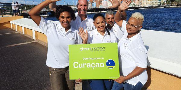Team Green Motion Curaçao,left to right:Dionne Jakoba, Rick Hart,Lynette Bernadina,Guillermo...