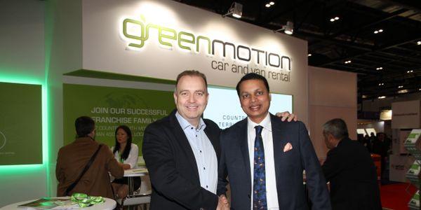 Sri Kodali, right, and Richard Lowden, left - photo taken at the World Travel Market 2019.