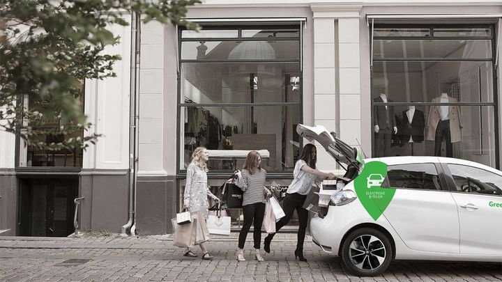 GreenMobility uses the Zoe Renault for its operations in Dublin and Oslo. - Photo via GreenMobility.