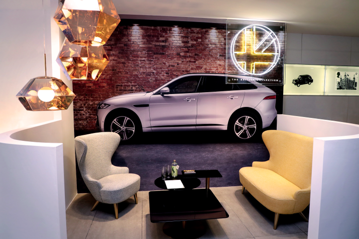 To complete the experience, Hertz worked with British artist Lauren Baker to develop a new neon light installation to launch The British Collection, signifying the union of modern and premium brands from the U.K. - Photo courtesy of Hertz.