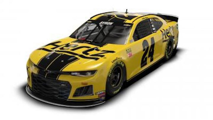 Hertz began its sponsorship of Hendrick Motorsports and the No. 24 team in May 2018. - Photo via Hertz.