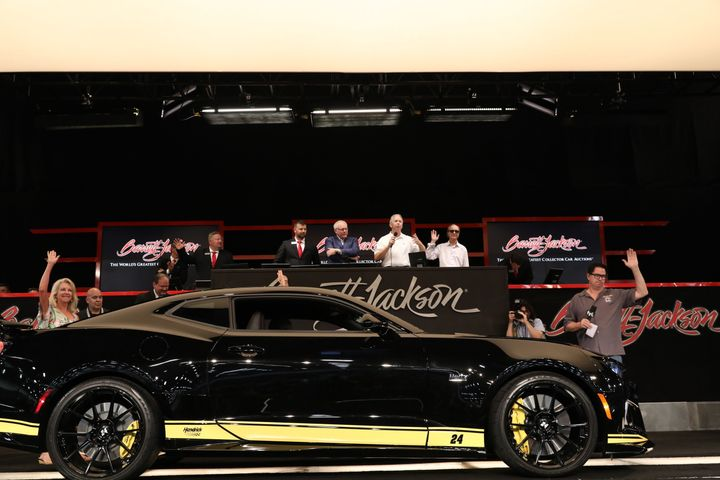 Hertz donated a production model of 24 limited-edition custom Camaros that it commissioned to JAJF, which was auctioned off at the Barrett-Jackson Las Vegas Auction onJune 19. - Photo courtesy of Hertz.