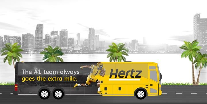 To broaden the celebration, Hertz is offering $300 Hertz certificates to winners who engage with the brand on Instagram. - Photo via Hertz.
