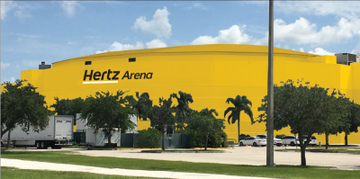 The agreement entails updating the facility's interior and exterior with the Hertz logo and other branded signage, further strengthening Hertz's commitment to Southwest Florida and Estero, where the company is headquartered. - Rendering courtesy of Hertz.