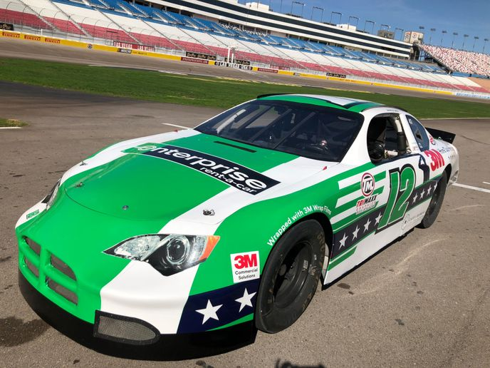 Last month, during the 2018 Specialty Equipment Market Association Show, Enterprise Rent-A-Car participated in the 3M Hire Our Heroes 500 charity stock car race at the Las Vegas Motor Speedway. - Photo via Enterprise.