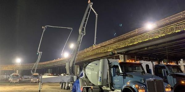 Once the guideway is in place at the sites of the future APM stations, steel erection for the...