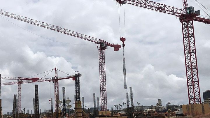 Four tower cranes are currently on site with three more to come by the end of the year. - Photo courtesy of LAX.