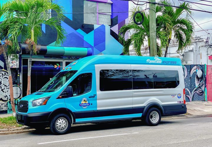 Freebee serves local communities through municipal transportation contracts, using a microtransit model which provides passengers with free door-to-door rides. - Photo via Lightning Systems.