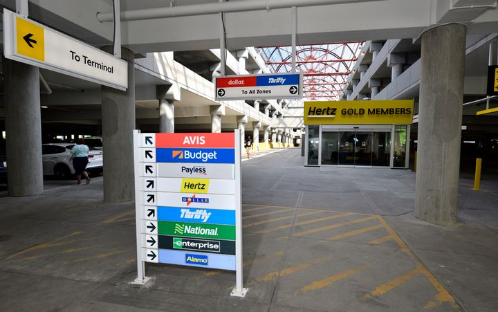 The new facility is located at Level 1 of the parking garage, allowing rental companieseasy access to covered parking, and grab-and-go services for customers. - Photo via Louisville Aiport.