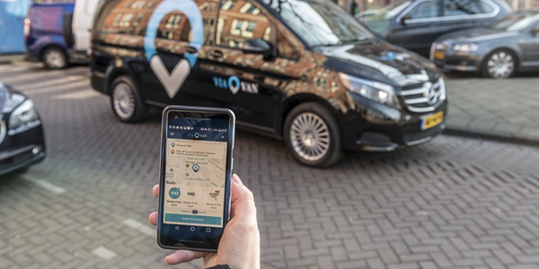 Through the ViaVan app, passengers are seamlessly matched in real time with other riders...