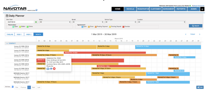 The main purpose of this calendar-based system is to allow users to make bookings in a more convenient way. - Photo courtesy of Navotar.