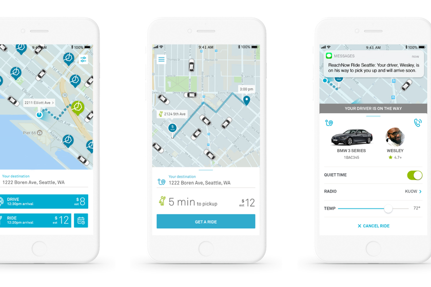 ReachNow members can now seamlessly choose to drive themselves, hail an immediate ride, or...