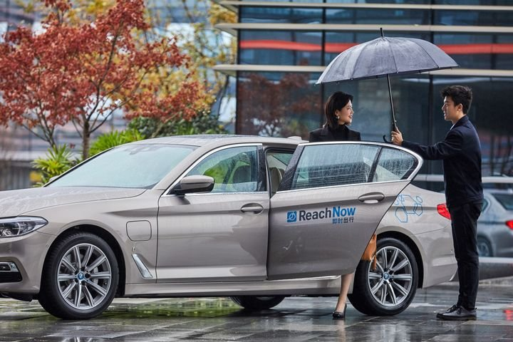 The BMW Group is the first foreign company in China to obtain a license to operate a ride-hailing service. 