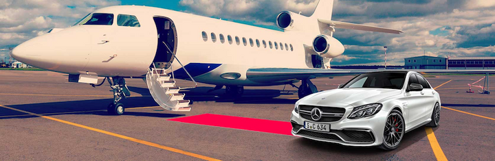 Upon arrival at Melbourne Airport, customers are collected from the domestic or international terminals by a Mercedes-Benz valet driver and conveyed to Mercedes-Benz Melbourne Airport for collection of their vehicle.  - Photo via DriveMyCar.