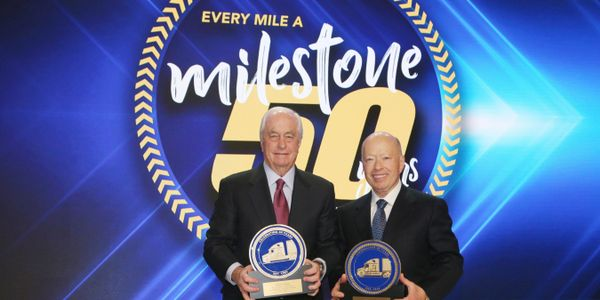 Roger S. Penske (left), chairman of Penske Transportation Solutions, and Brian Hard, president...