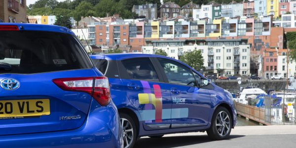The Toyota Yaris'full hybrid system means they can run in slow-moving city traffic for short...