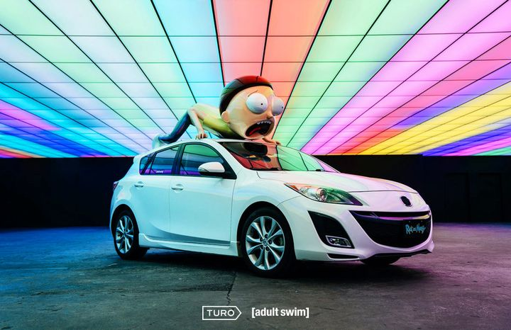 Unveiled at the Adult Swim Festival in Los Angeles, this one-of-a-kind vehicle will be available to rent on Turo. - Photo courtesy of Turo.