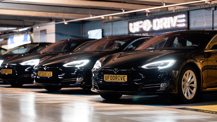 UFODrive, anall-digital, all-electric car rental solution, offers transparent pricing and a consistent customer experience.  - Photo via UFODrive.
