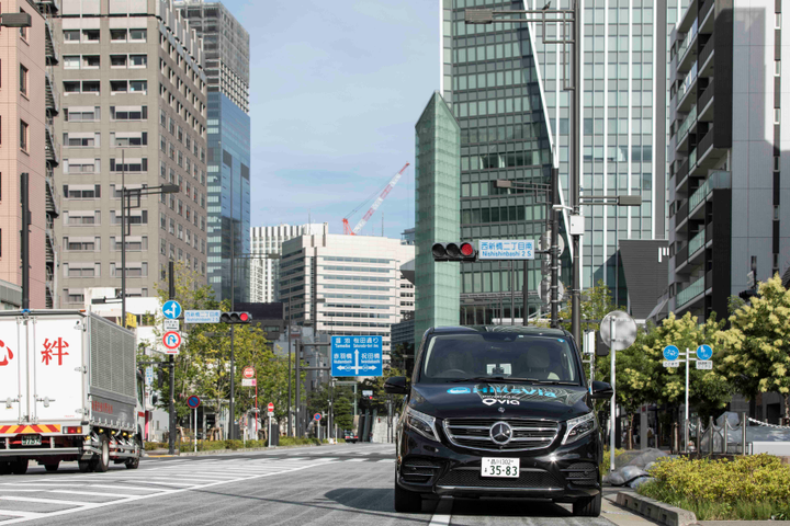 Via's technology efficiently works to aggregate multiple passengers into shared vehicles, reducing single-occupancy vehicle trips, improving traffic congestion,and curtailing carbon emissions. - Photo courtesy of Via.