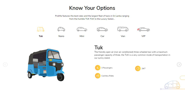 Launched in 2015, PickMe users can request a vehicle ranging from an autorickshaws, to a luxury...