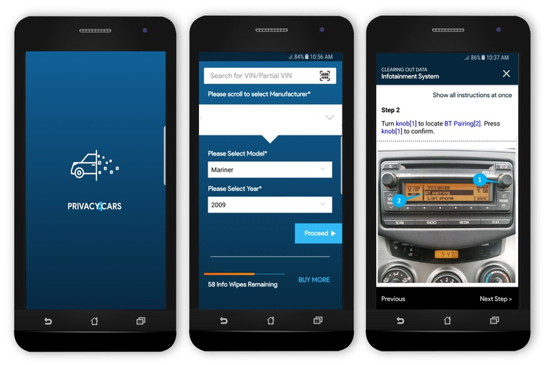 Privacy4Cars' patent-pending process provides customized, visual step-by-step tutorials to help...