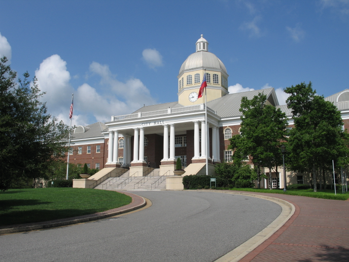 The Roswell, Ga., city hall. Photo via Carrie Qualters/Wikimedia.