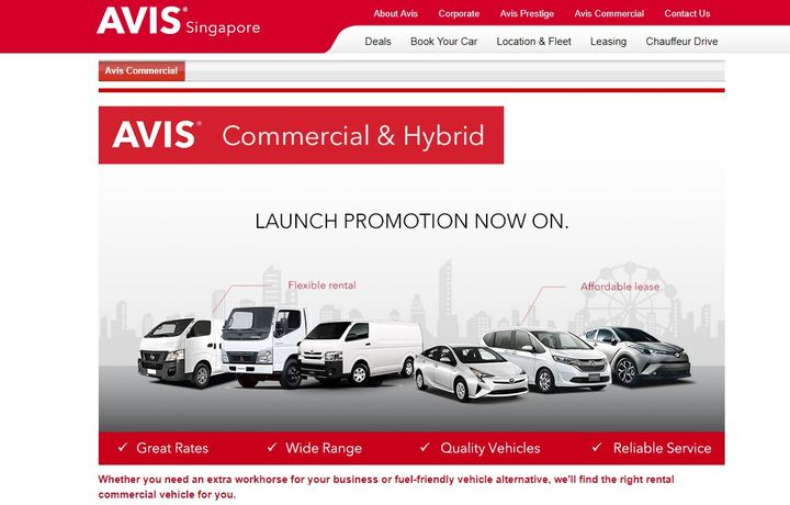 The flexibility of the commercial rental service now means that customers have access to a van, or truck for a short-term rental without the unnecessary commitment of purchasing, or long-term rental. - Screenshot via Avis.