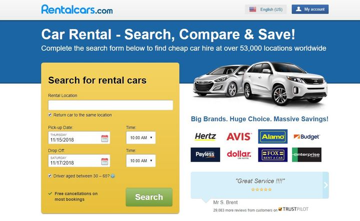 The partnership with Rentalcars.com will give the travel company usage of the new Cover Genius XClaim API. - Screenshot via Rentalcars.com