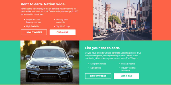 Rideshare drivers are now able to rent and drive-to-own vehicles that are listed on the HyreCar...