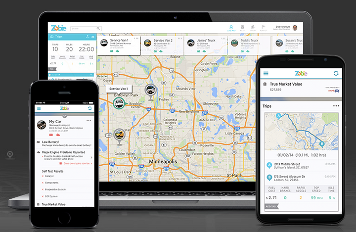 In addition to GPS tracking and geofencing capabilities, Zubie Rental Connect includes real-time fuel and odometer reporting.  - Screenshot via Zubie.