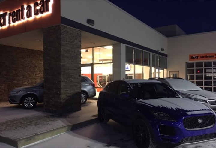 When this photo of the Sixt downtown Indianapolis location was taken at 7am on Wednesday, Jan. 30, the temperature was -7 degrees and dropping.  - Photo courtesy of Phil Spink.