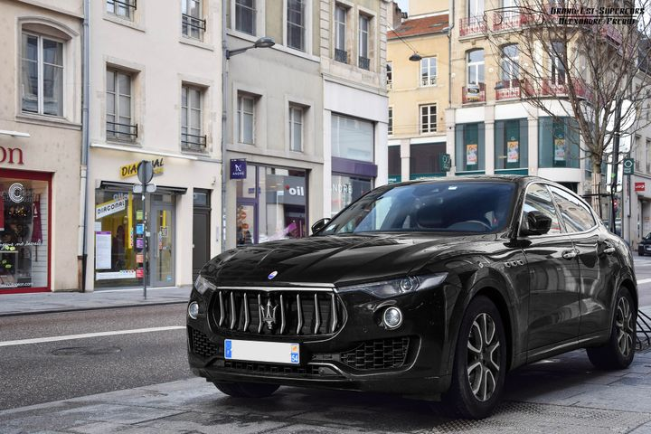 A stylish and eye-catching vehicle, the 100th Anniversary Maserati Levante uniquely features a number of special Hertz touches, with a range of exterior graphics and stunning interior detailing, for a distinctive driving experience. - Photo via Alexandre Prévot/Flickr.