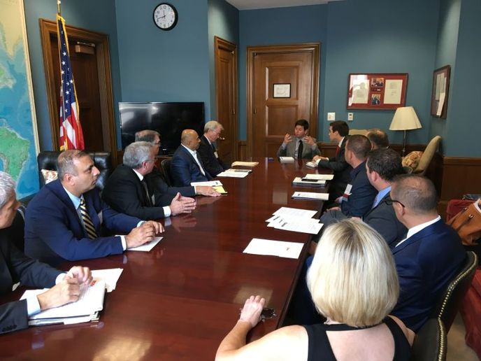 An ACRA delegation meets in a Congressional office to discuss car rental issues during the 2019 Day on the Hill meetings, which took place Sept. 23-25. - Photo by Chris Brown.