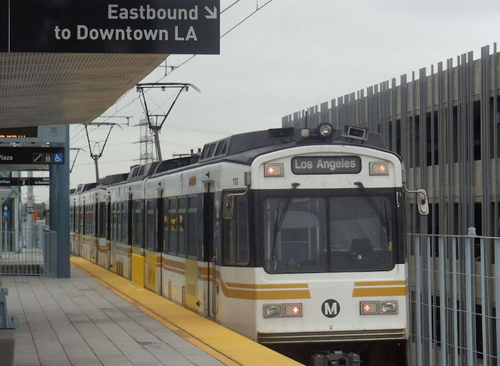 The service utilizes Via's algorithm to dynamically route shared vehicles to-and-from three busy Metro stations — Compton (Artesia), El Monte, and North Hollywood. - Photo via METRO96/Wikimedia.