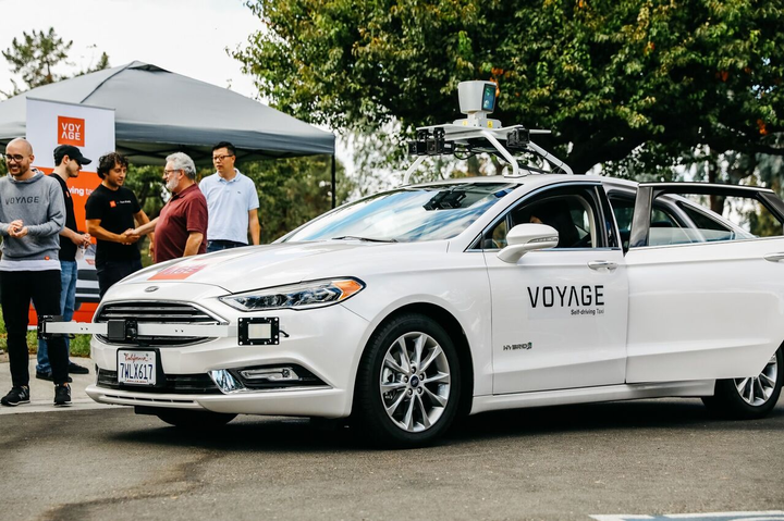As part of the terms of the partnership, Voyage will retrofit the Enterprise lease vehicles with self-driving hardware. - Photo via Voyage.