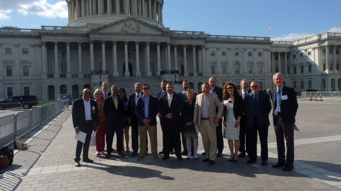 After the Tuesday meeting members took time out for a photo in front of the Capitol.