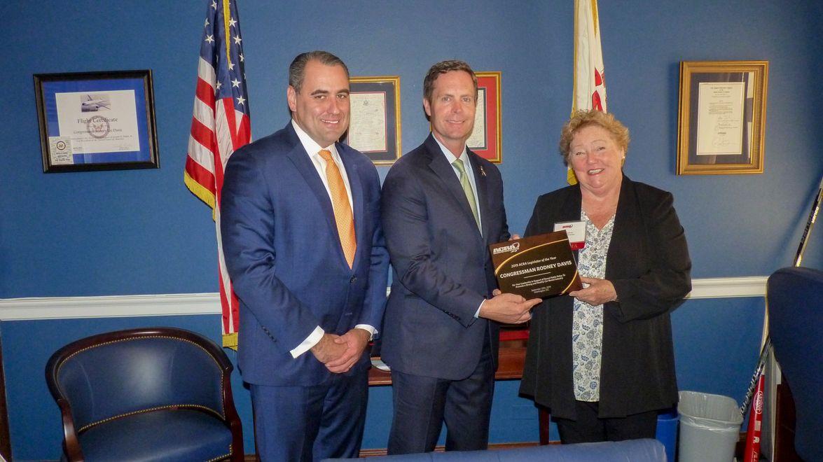 On Wednesday, Representative Rodney Davis (R-IL13) received the ACRA Legislator of the Year...