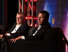 In the show's opening keynote, Will Withington, Enterprise Holdings Inc. (right) and Charlie...
