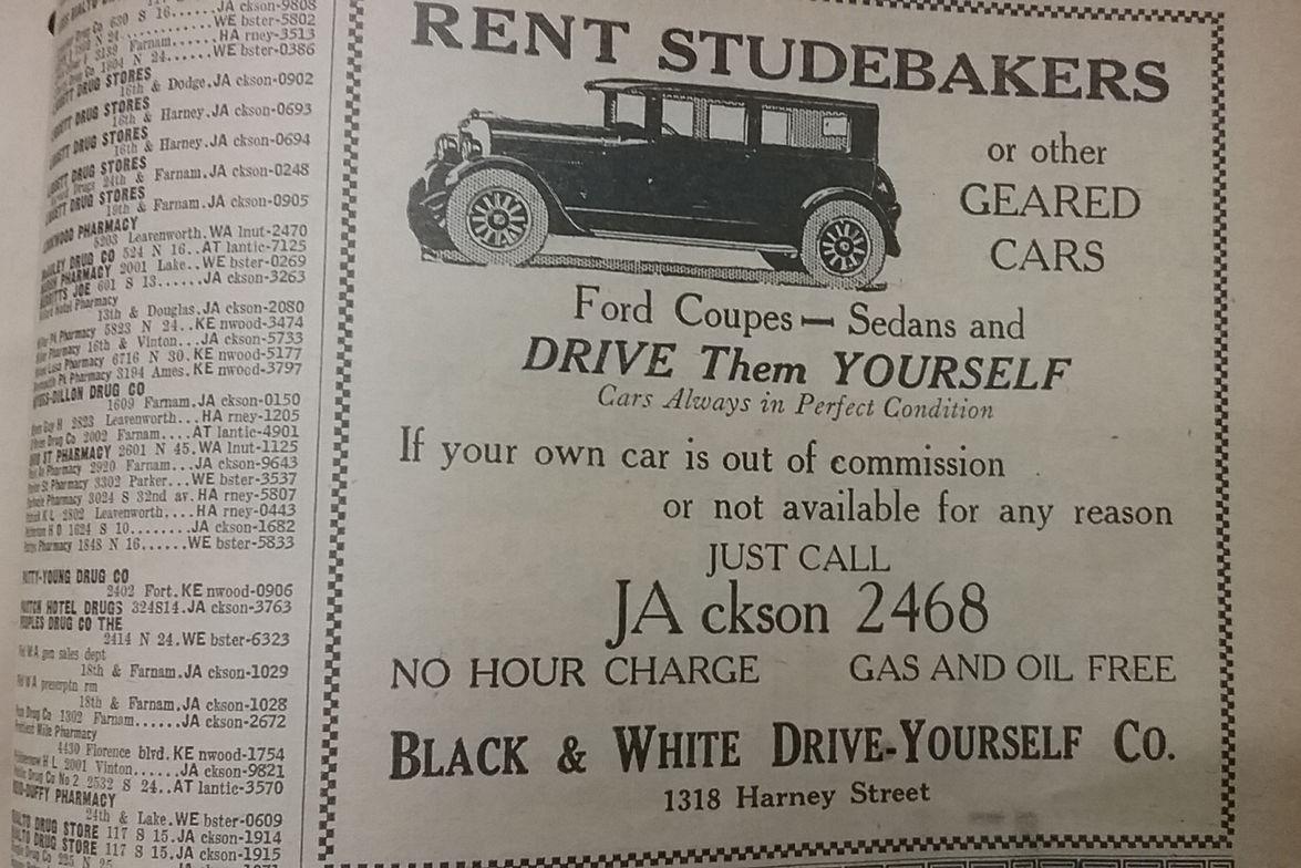 Photos: Vintage Car Rental Advertising