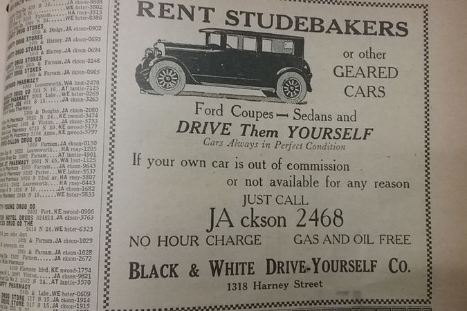 Photos: Vintage Car Rental Advertising