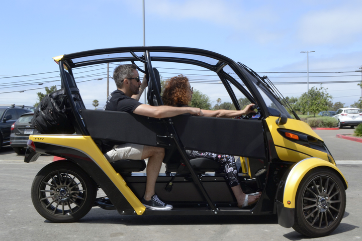 The first recipients of the fun utility vehicles, which are still in beta testing, will be fleets, specifically HulaCar, a San Diego carsharing operation. - Photo by Michaela Kwoka-Coleman.