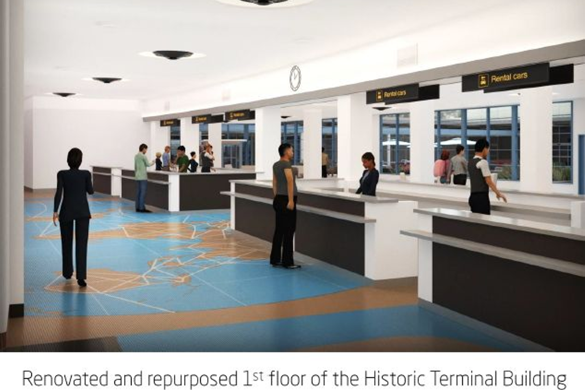 Once the renovations are complete, travelers will have easier access to the car rental operators.