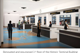 Renderings Show Updated Car Rental Counters at Long Beach Airport