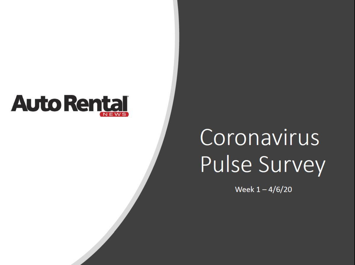 Auto Rental News 4/6/20 Survey - Coronavirus Effects on Operators