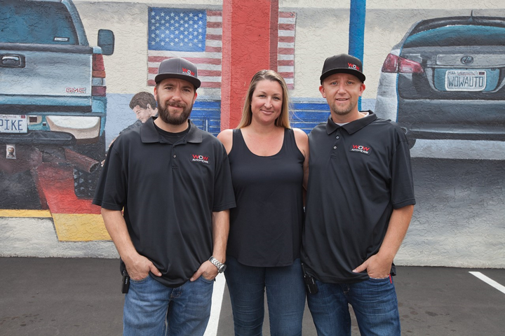 Owners (left to right): Nolan Pike, Liv Pike and David Pike. -