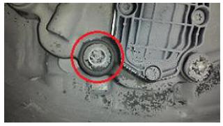Example of leak location. -