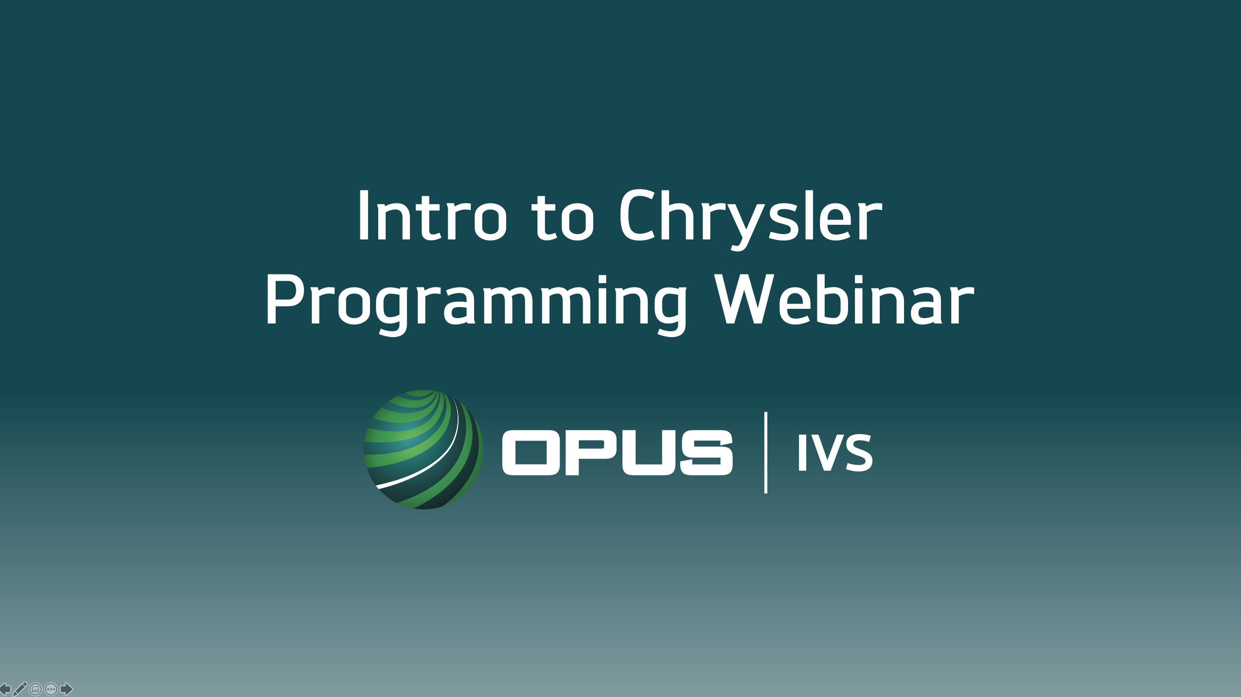Opus IVS to Offer Webinar on Chrysler Programming