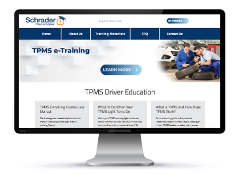 Schrader's TPMS e-Training course consists of five free modules explaining the fundamentals of TPMS service. -